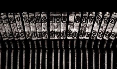 reverse: Typewriter letters Stock Photo
