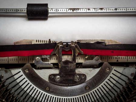 Blank paper in typewriter