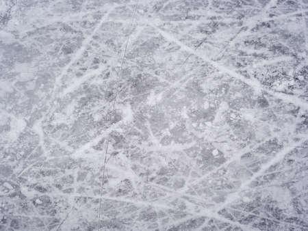 Ice skate marks