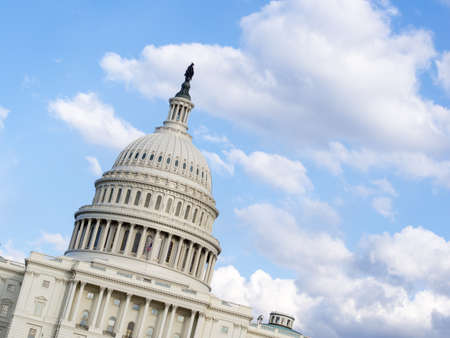 sequester: Capitol Hill with copy space