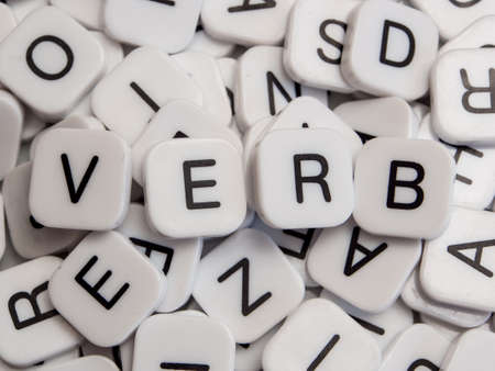 Verb letters Stockfoto