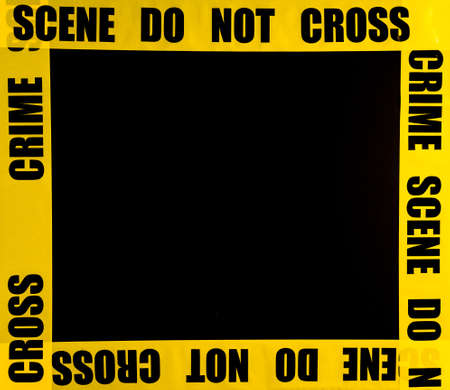crime: Crime scene frame
