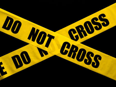 police tape: Do not cross