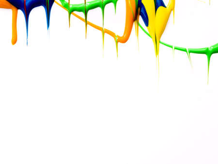 dripping paint: Wet dripping paint background Stock Photo