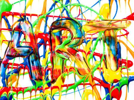 fingerpaint: Art background Stock Photo