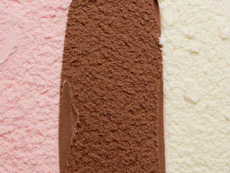 helados: Helado napolitano Foto de archivo