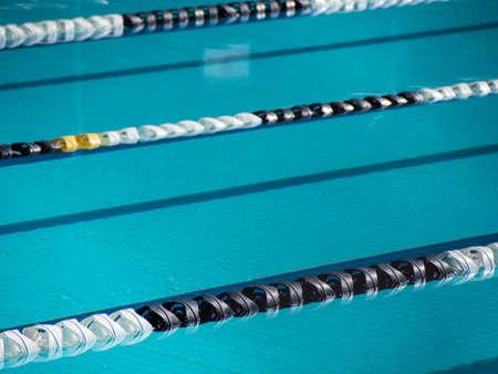 Swimming lane ropes Stock Photo