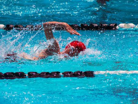 Freestyle swim heat photo