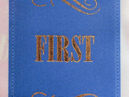 primer lugar: Cinta primer lugar Foto de archivo