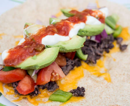 Healthy bean burrito Stock Photo - 21861692