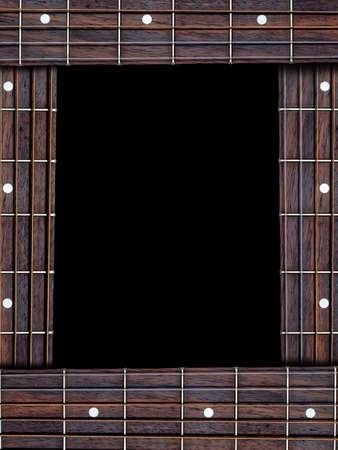 Guitar music frame Stock Photo - 22076598