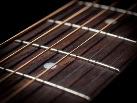 Guitar strings close up Stock Photo - 22076609
