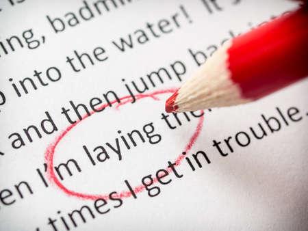 Korekta błędów esej