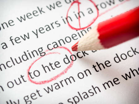 proofreading essay errors stock photo picture and royalty  proofreading red pencil photo