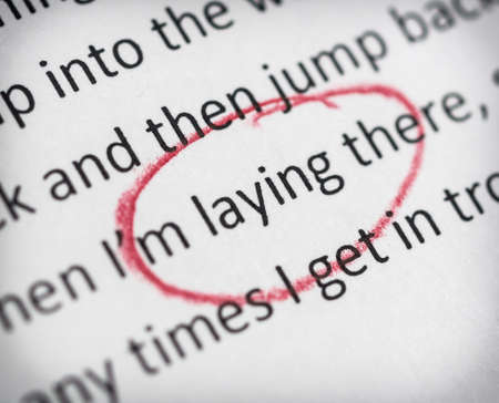 essay: Laying spelled wrong