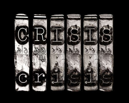 Crisis or warning Banco de Imagens