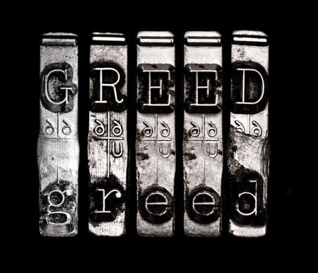 character traits: Sin of greed