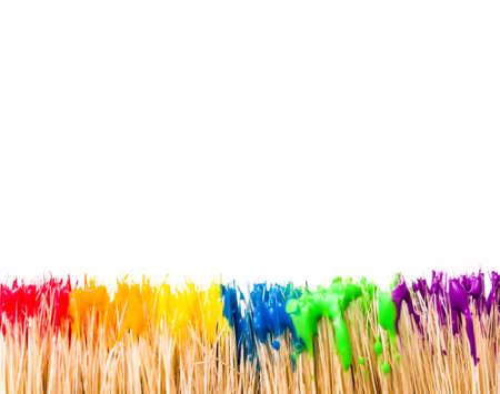 fingerpaint: Rainbow paint background