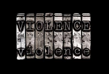 暴力 写真素材