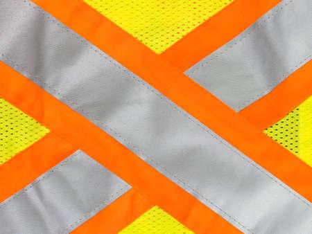 safety: Safety vest reflective tape