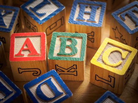abc blocks: ABC blocks Stock Photo
