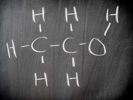 Ethanol chemical formula photo