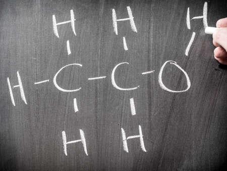 Alcohol chemical formula photo