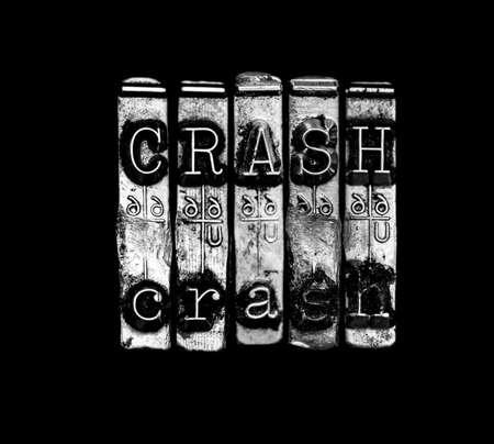 market crash: Stock market crash Stock Photo