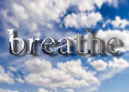 新鮮な空気を呼吸します。 写真素材