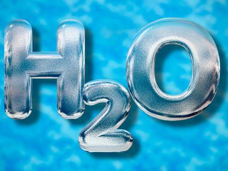 h2o: Water or H2O concept Stock Photo