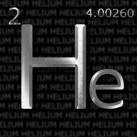 an element: Helium element concept