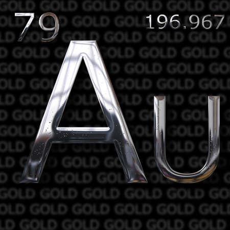 an element: Gold element concept