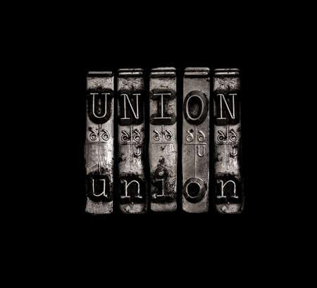 El concepto de Unión del Trabajo Foto de archivo
