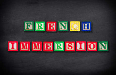 immersion: French immersion concept Stock Photo