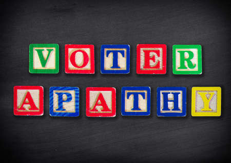 apathy: Voter apathy Stock Photo