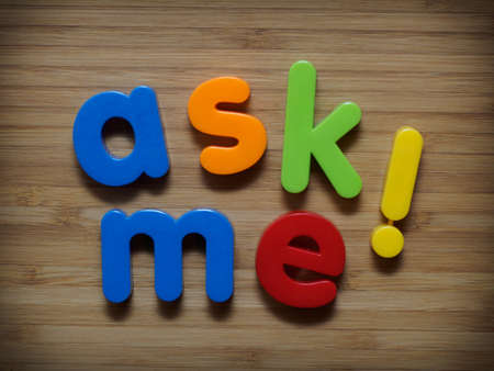 requesting: Ask me information concept