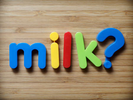 allergy questions: Milk question concept