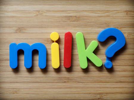 Milk question concept