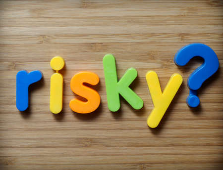 kockázatos: Kockázatos választott fogalmát Stock fotó