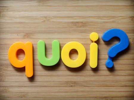 interrogative: �Qu� concepto franc�s