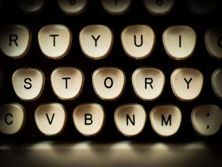 typewriter: Story concept Stock Photo