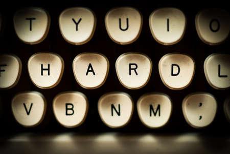 hard: Hard concept Stock Photo