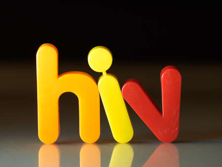 HIV virus concept Stock Photo