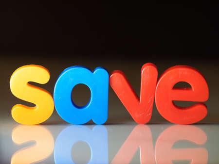 Save or savings Stock Photo
