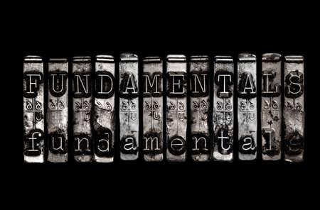 fundamentals: Fundamentals Stock Photo