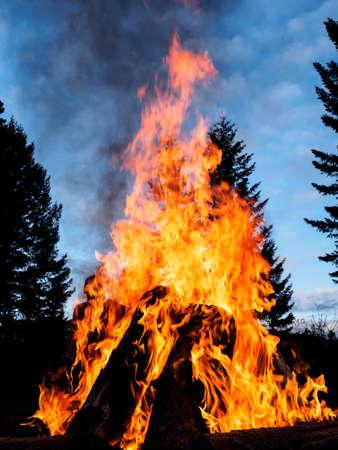 Outdoor bonfire Stock Photo