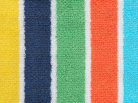 Striped towel background Stock Photo