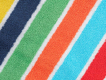 beach towel: Striped beach towel