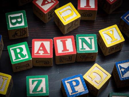 Rainy day concept