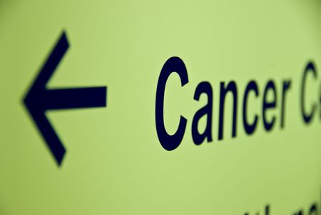 outpatient: Cancer Arrow Stock Photo